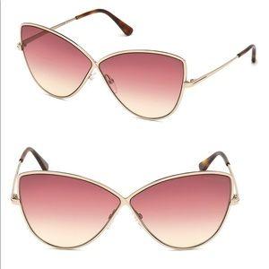Tom Ford Elise Cat Eye Sunglasses